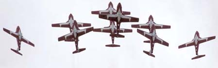 Snowbirds in tight formation